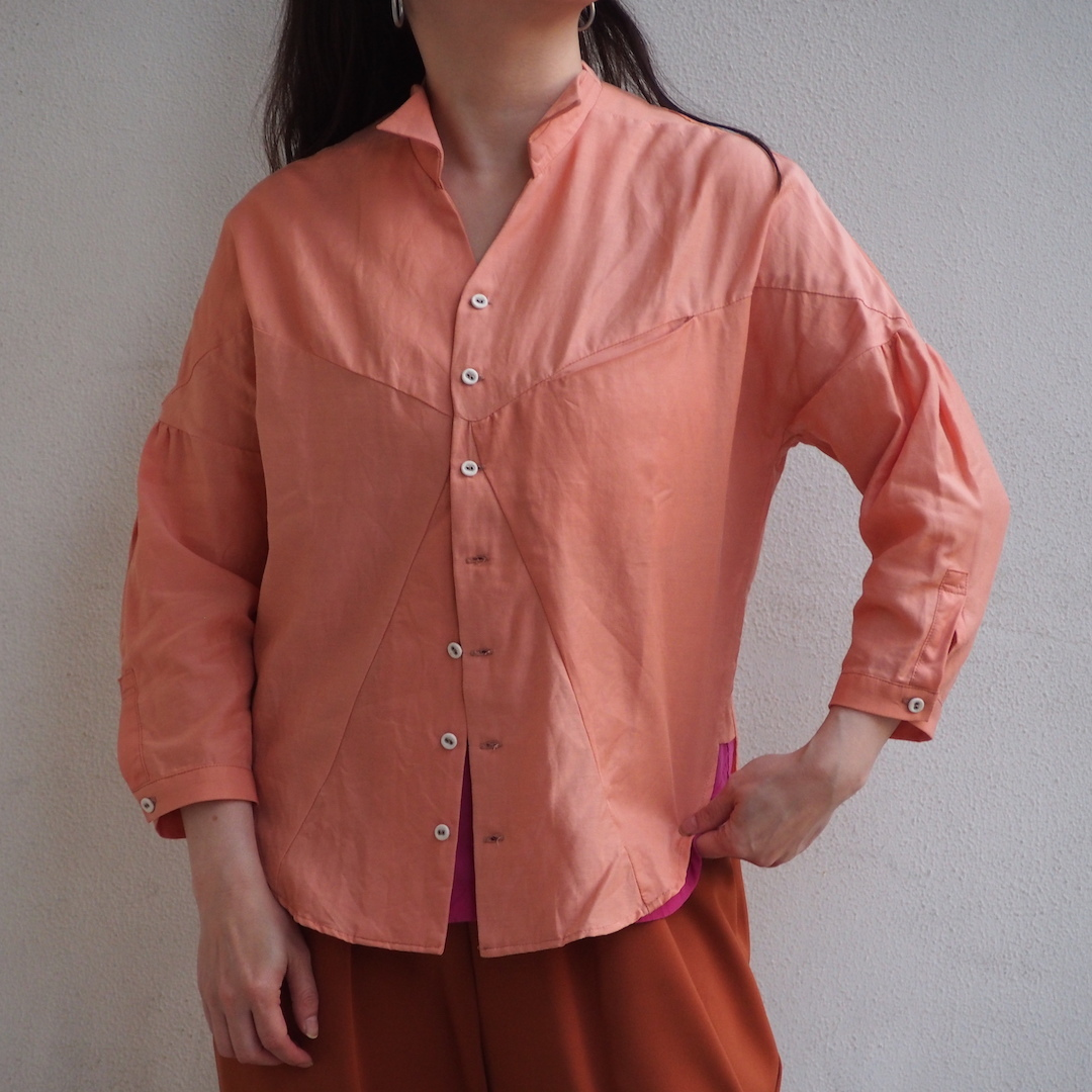 【ethical hippi】shirt jacket(pink orange) / 【エシカル ヒッピ】シャツ ジャケット(ピンクオレンジ)