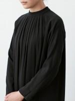 evam eva|cotton double stand collar one-piece