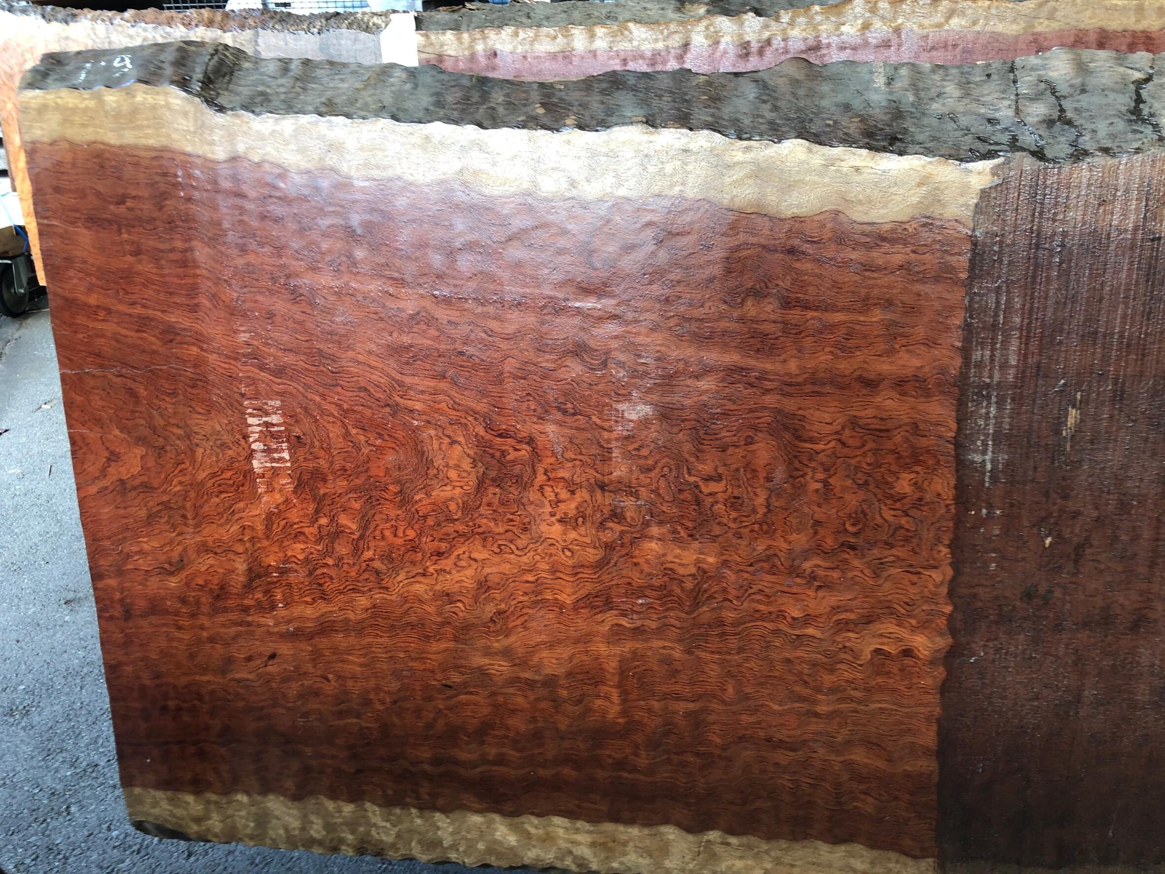 ブビンガ 玉杢 原板 6100×940×65