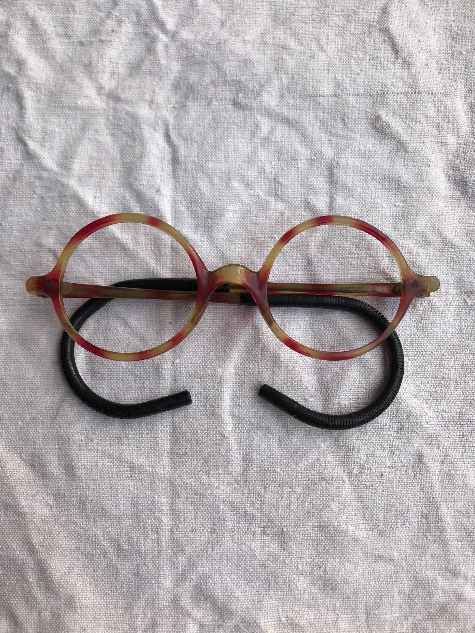 古い眼鏡フレーム セルロイド 古道具 C