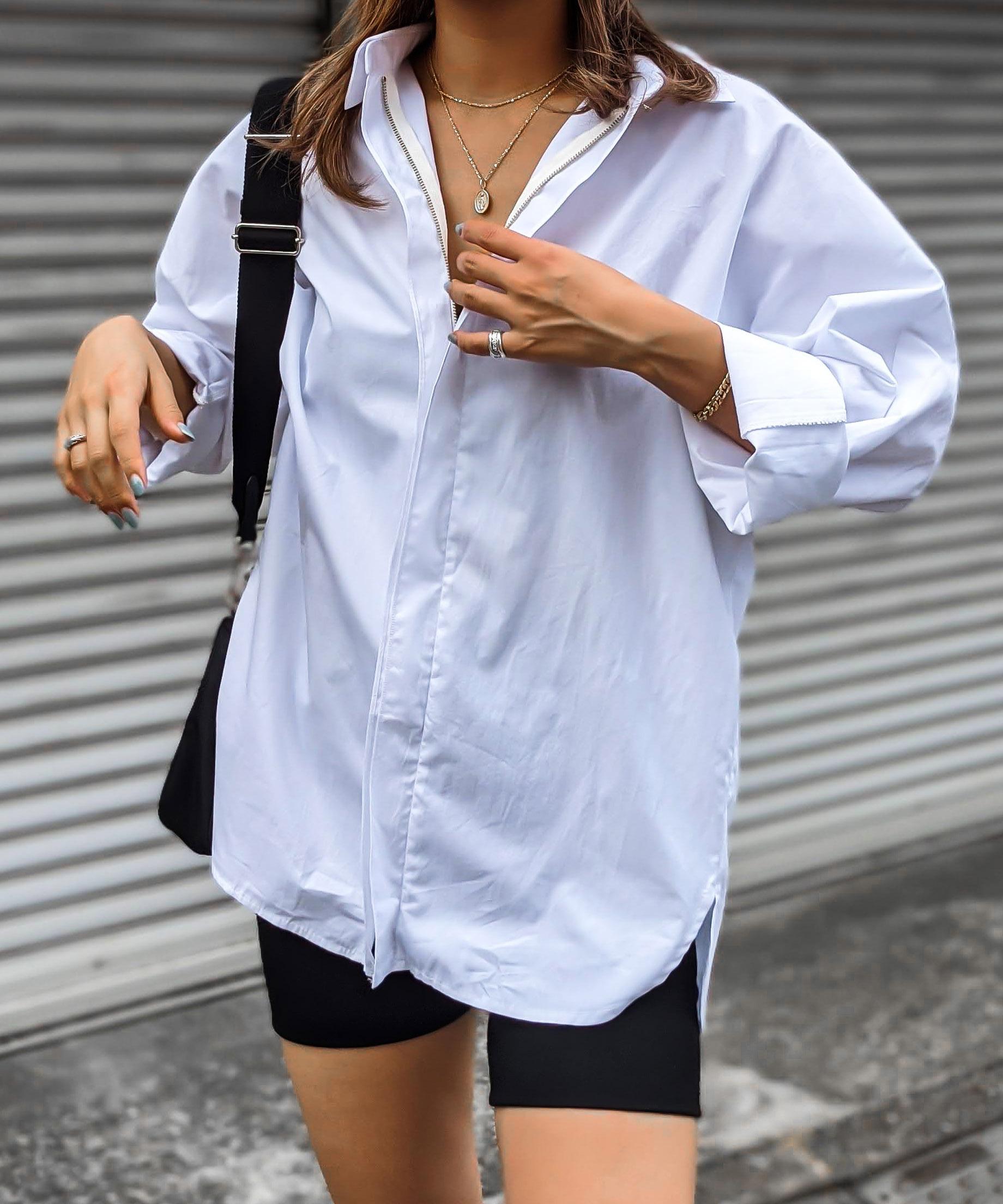 Front zip shirt