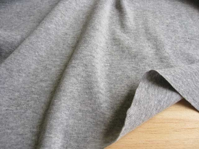 J&B定番 綿コーマ糸フライスニット 杢グレー #90 NTM-1090