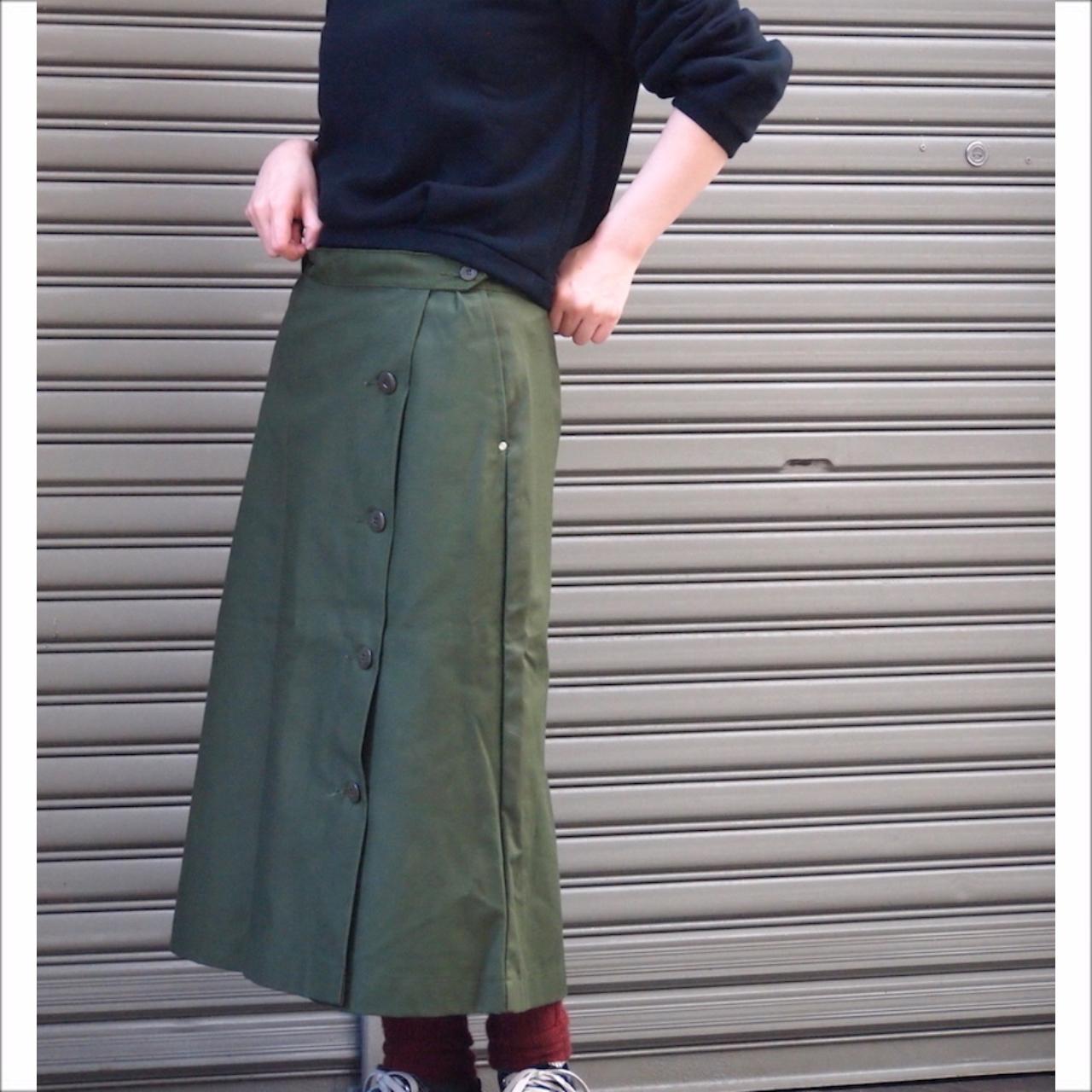 【sandglass】military wrap skirt / 【サンドグラス】ミリタリー ラップ スカート