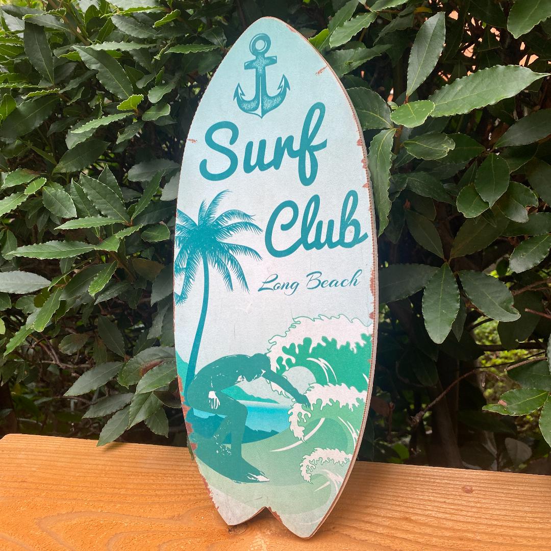 サーフボード型 壁掛けオブジェ ハワイアン雑貨 アメリカン な雰囲気 展示品処分