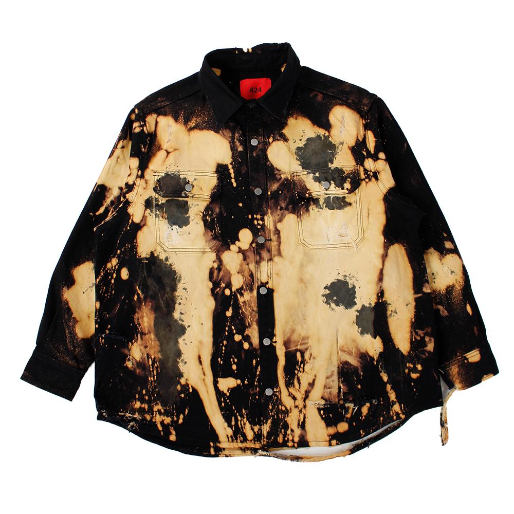 424 Bleach Denim Shirt
