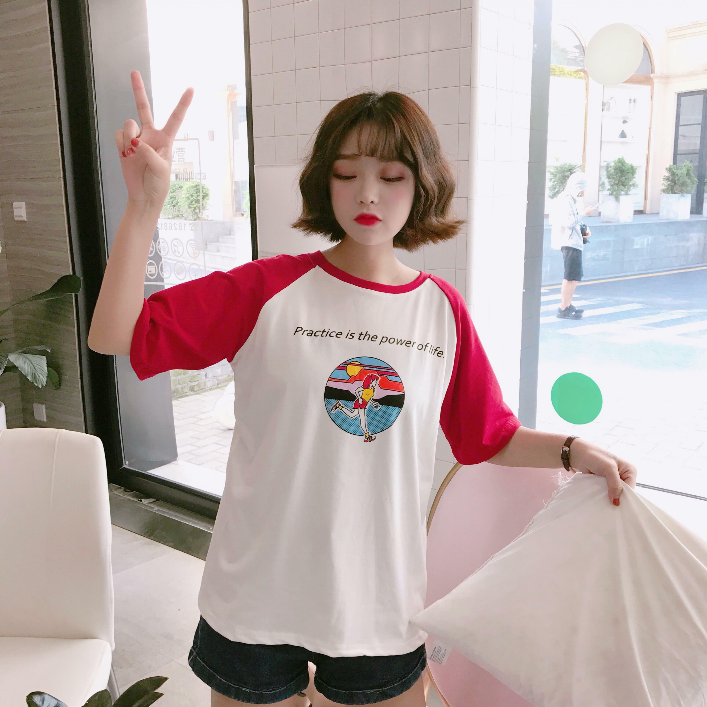 夏のキャラクタープリントTシャツ かわいいショートスリーブ Tシャツ