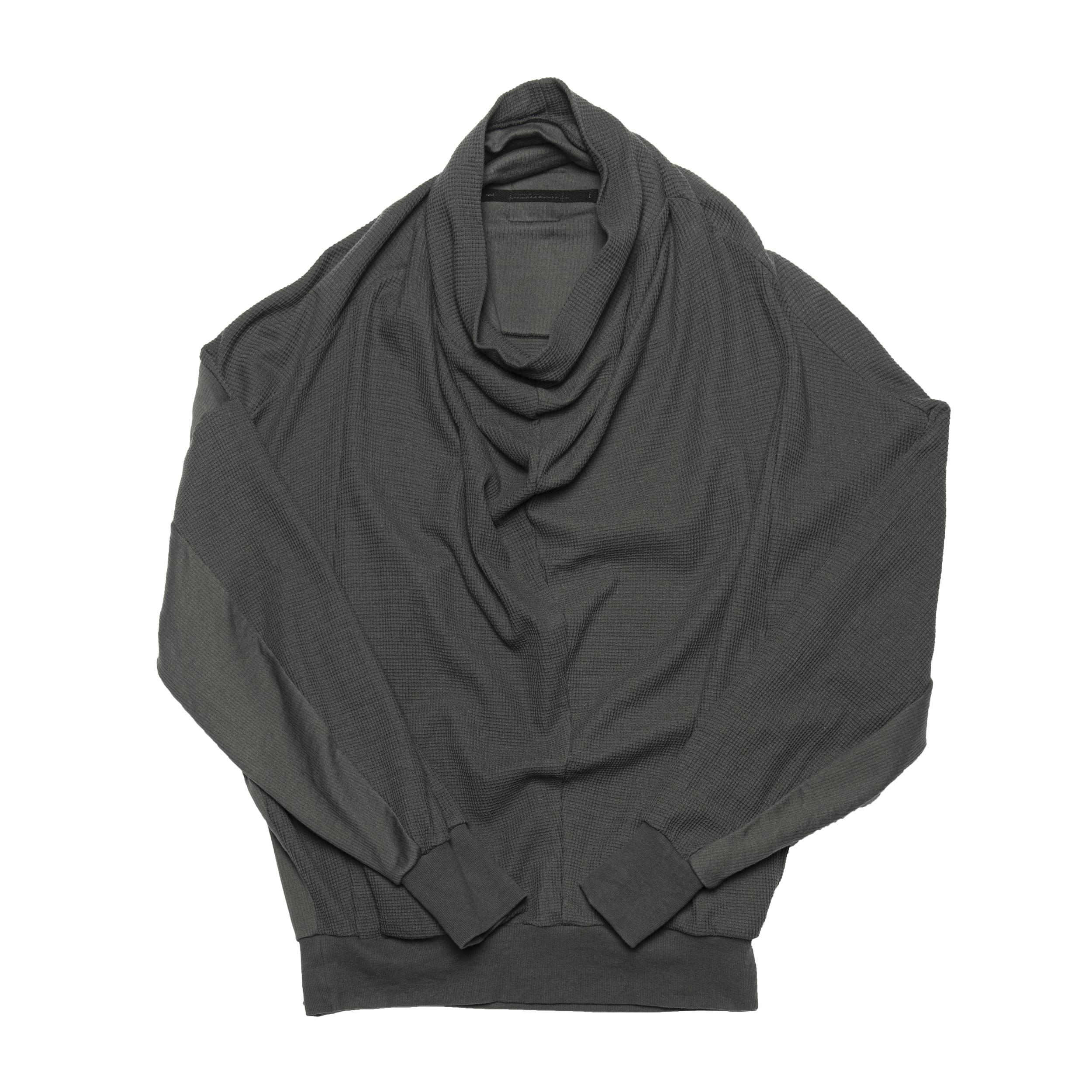 687CUM8-MUD KHAKI / 2 FACE カウルネックシャツ