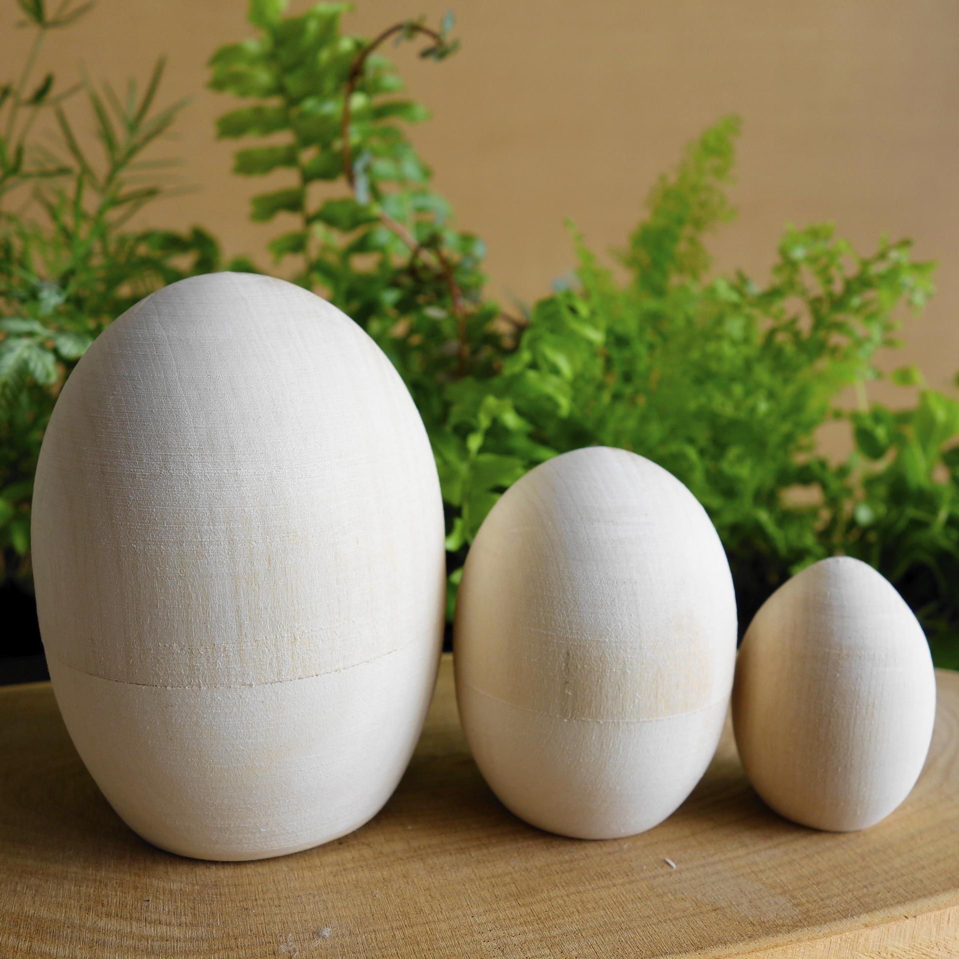 白木マトリョーシカ たまご型3ピース