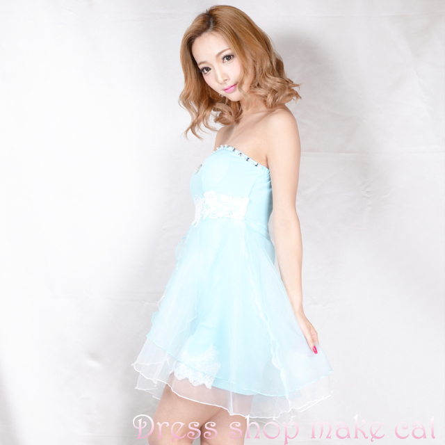 SALE★ふわふわinミニベアドレスFサイズ ¥6,570-→¥4,599-  make-7103 キャバドレス ドレス パーティー