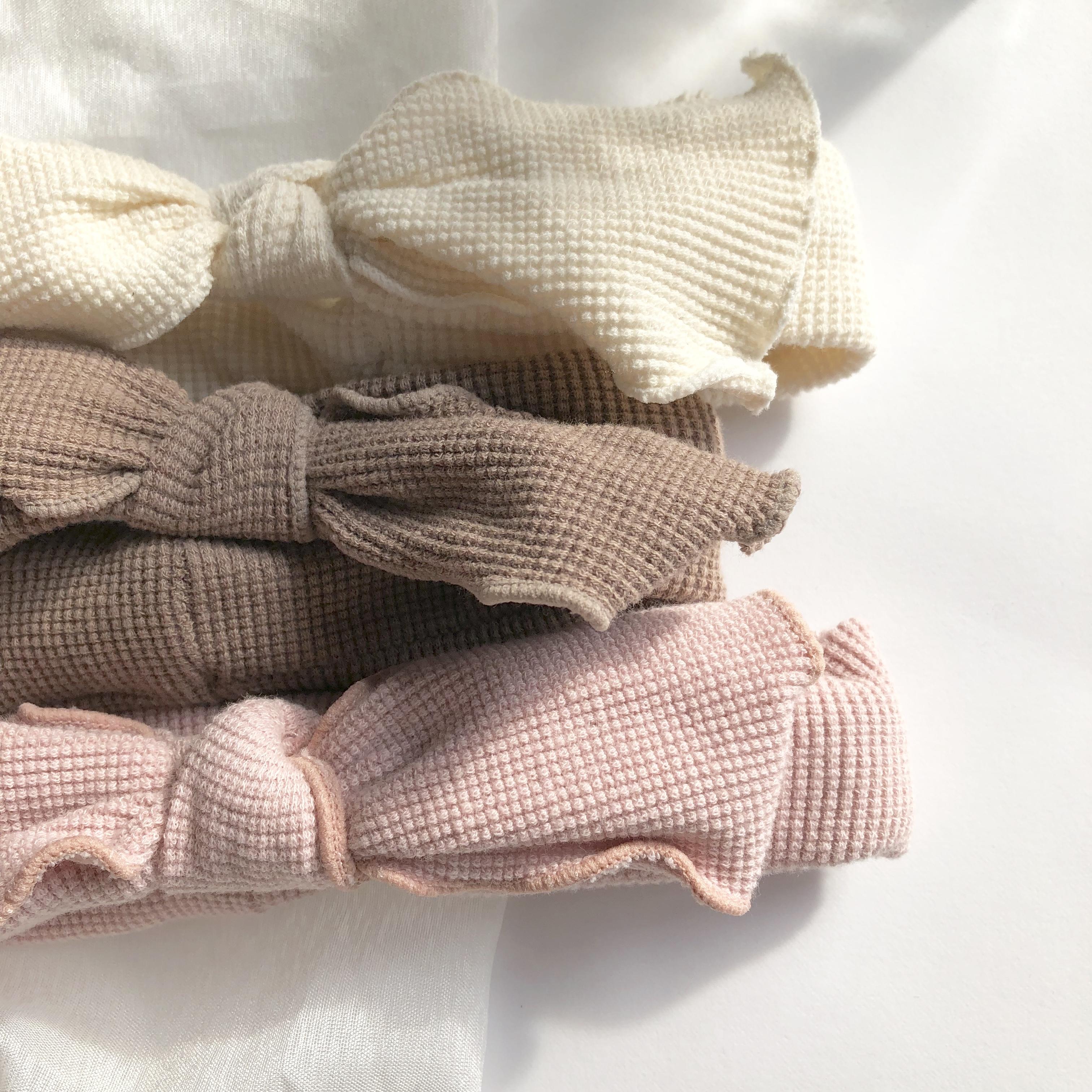 《 114 》Baby waffle ribbon ヘアバンド