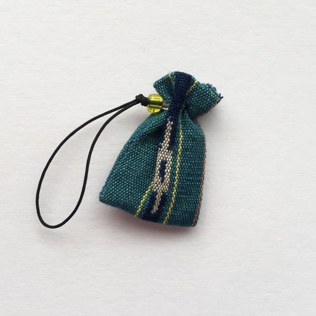 琉球のお守り  〈八重山ミンサー織〉02 緑色