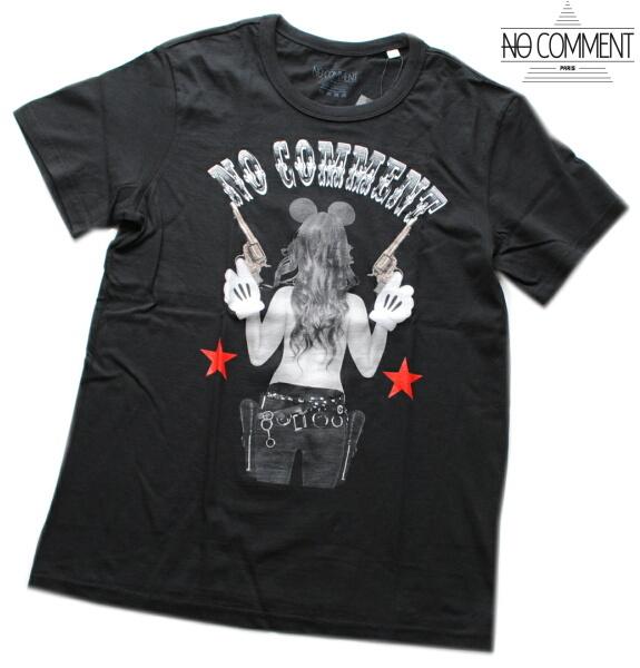 NO COMMENT PARIS ノーコメント パリ Tシャツ 半袖 クルーネック Tシャツ メンズ 正規販売店 LTN200 ブラック