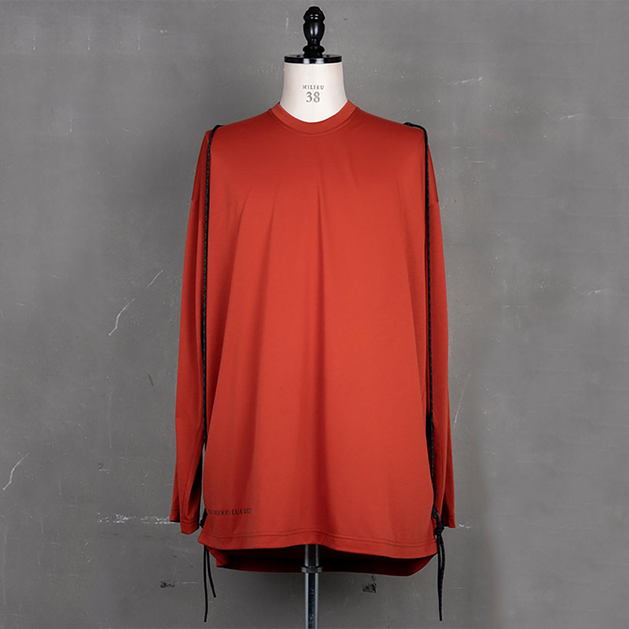 [ 2021 春夏 予約商品 ] 740CUM3-RED / ロングスリーブ コード Tシャツ / 12月入荷予定