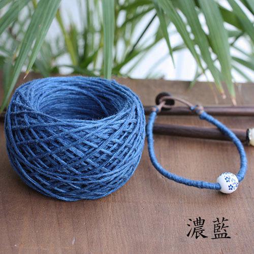 [アジアンヘンプ 15g(約30m)]藍染め 濃藍