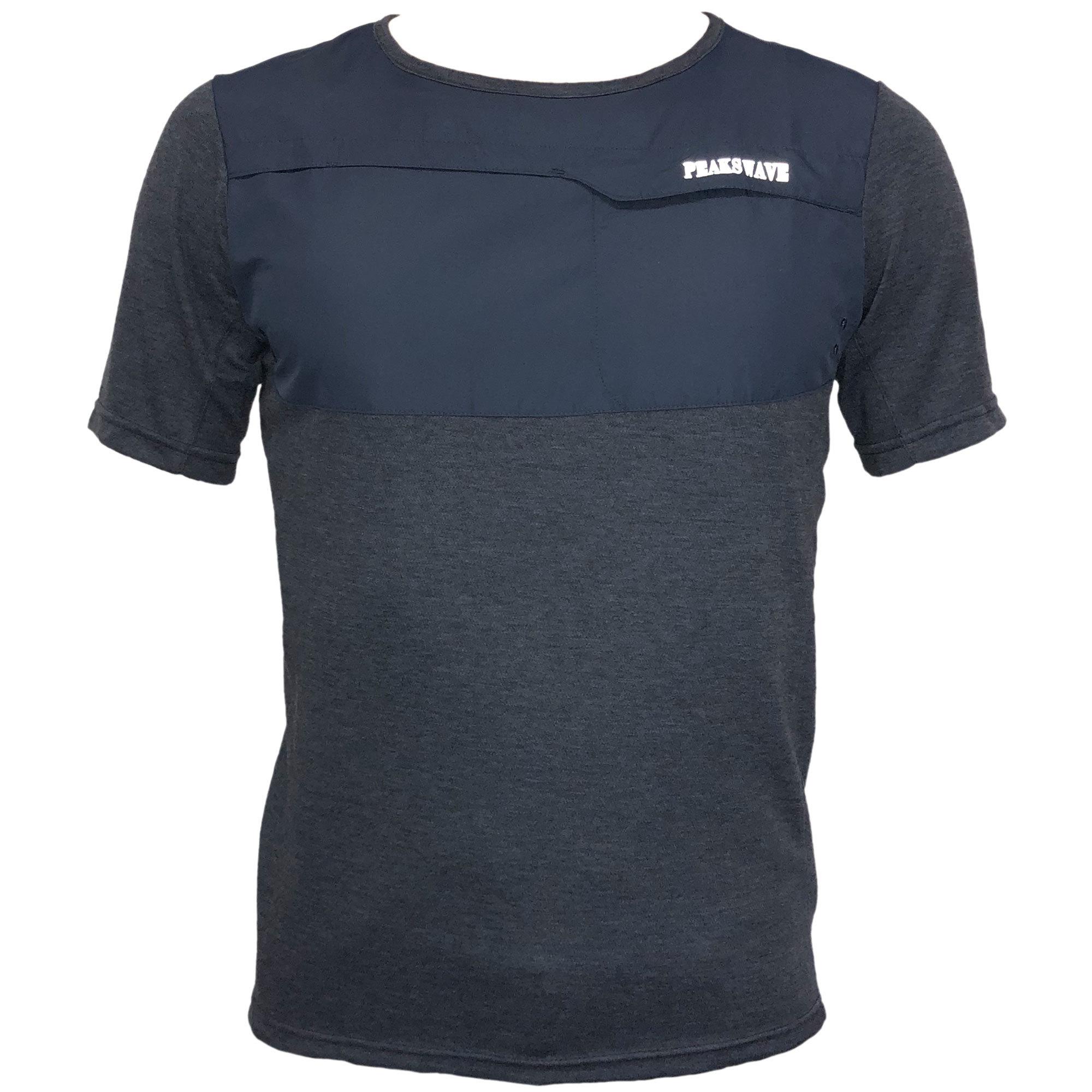 P818TSM20 吸水速乾 UV メンズハイブリッドTシャツ(ネイビー)