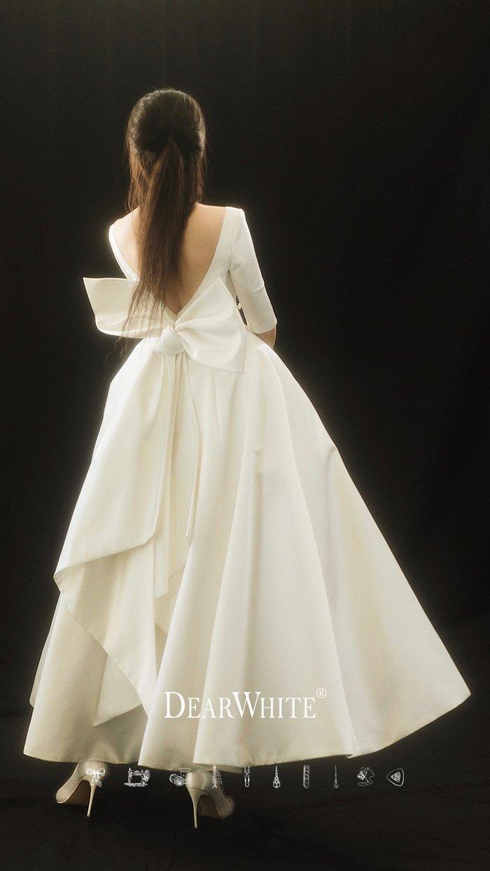 dw_b_17【DearWhite】オーダーメイドウェディングドレス Aライン プリンセス エンパイア デコルテ 結婚式 披露宴 二次会 パーティーウェディングドレス・カラードレス・サイズオーダー格安オーダーメイド
