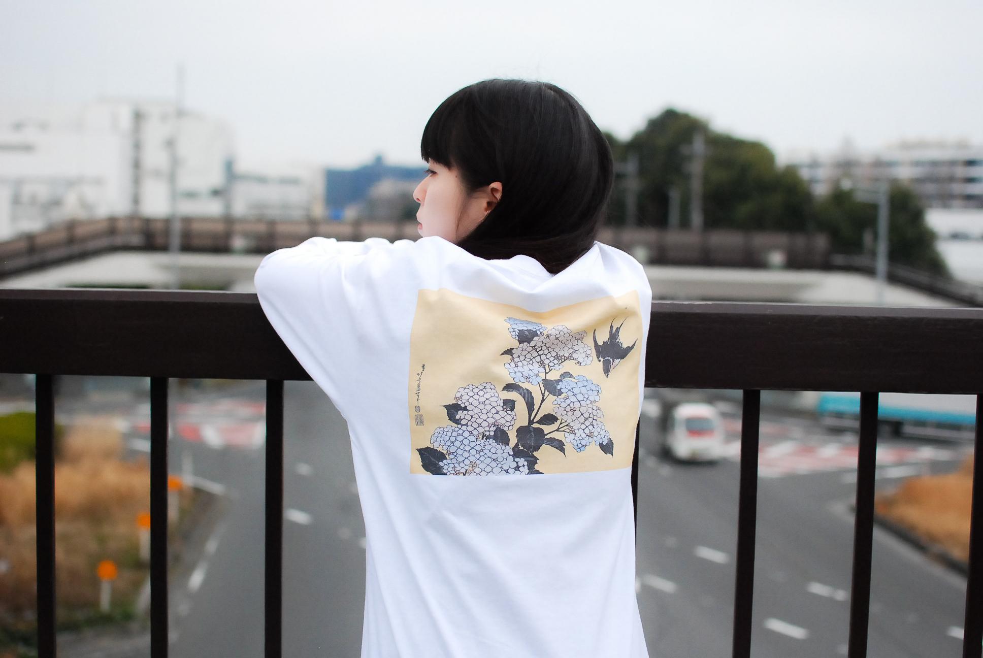 【UNISEX】葛飾北斎 AJISAI Longsleeve T-shirt