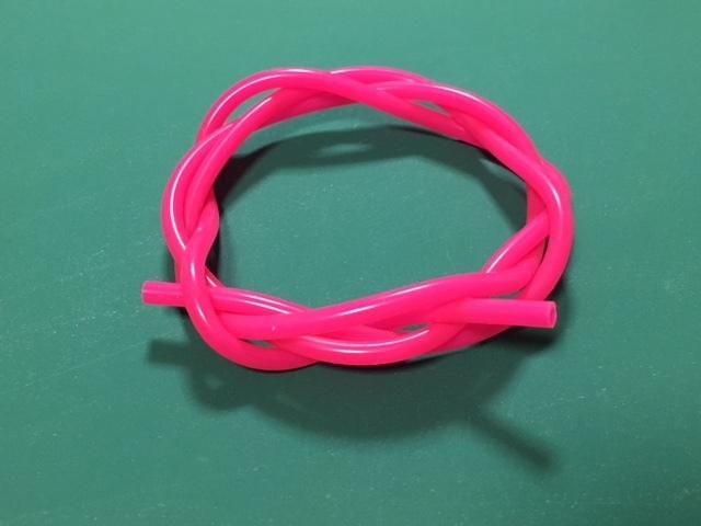 ◆外径5mm*内径3mm 長さ1m★グロー燃料シリコンチューブ 、カラー(紫)
