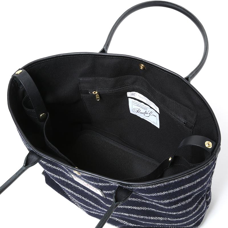 EVA × Harris Tweed Tote Bag (ネイビー) / RADIO EVA