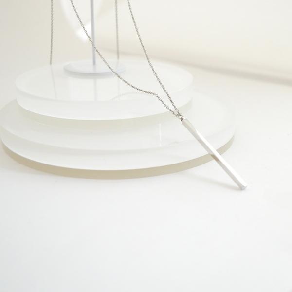 Long Bar Necklace(Silver)
