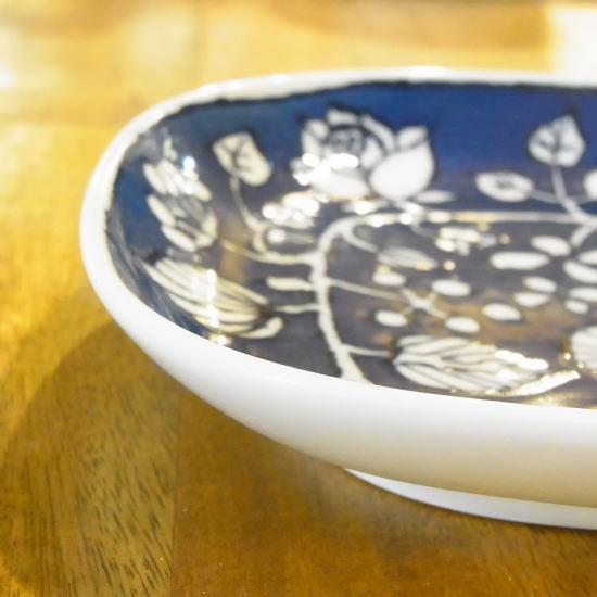 波佐見焼 フラワーパレード 四角皿 - 画像4
