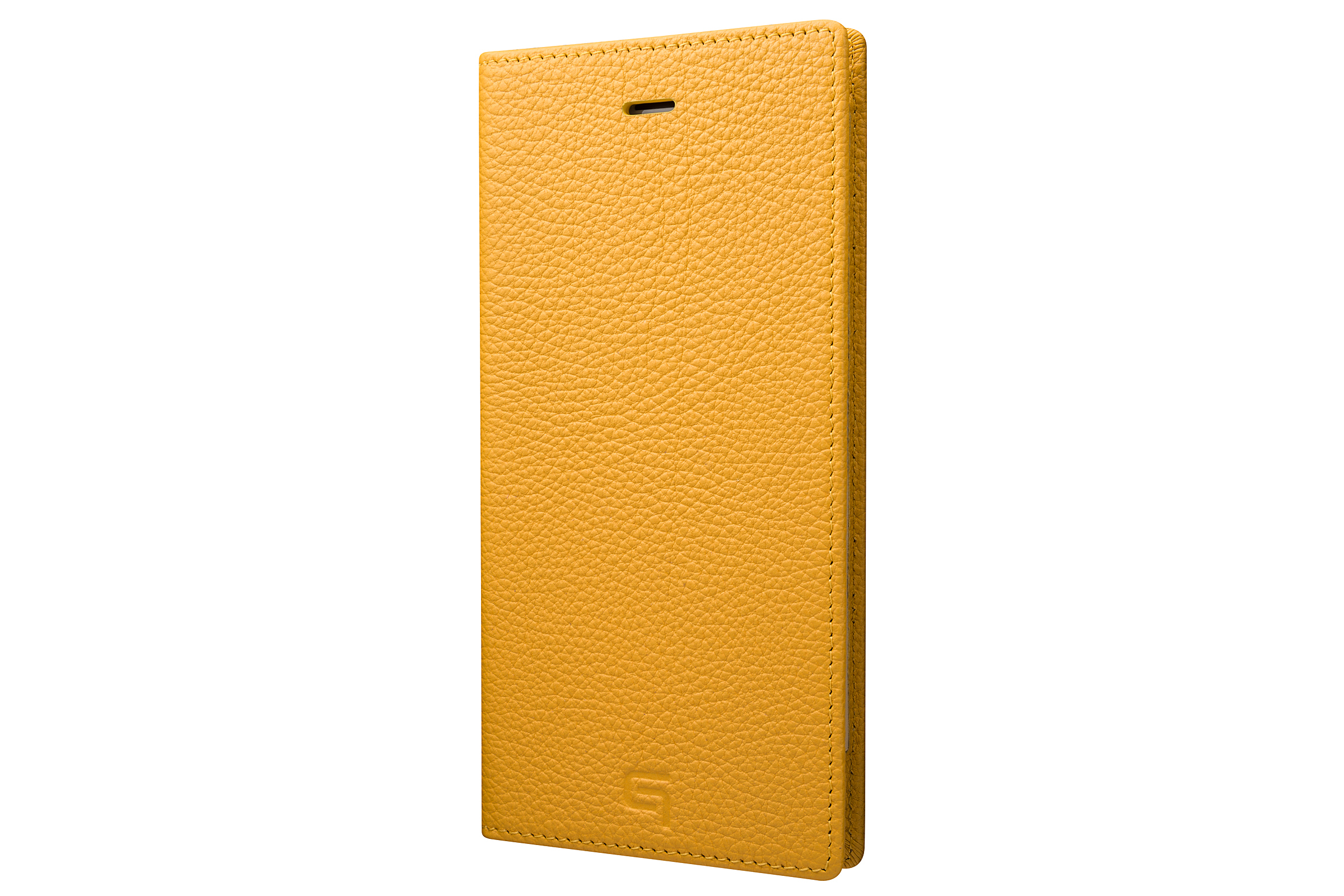 GRAMAS Shrunken-calf Full Leather Case for iPhone 7 Plus(Yellow) シュランケンカーフ 手帳型フルレザーケース - 画像1