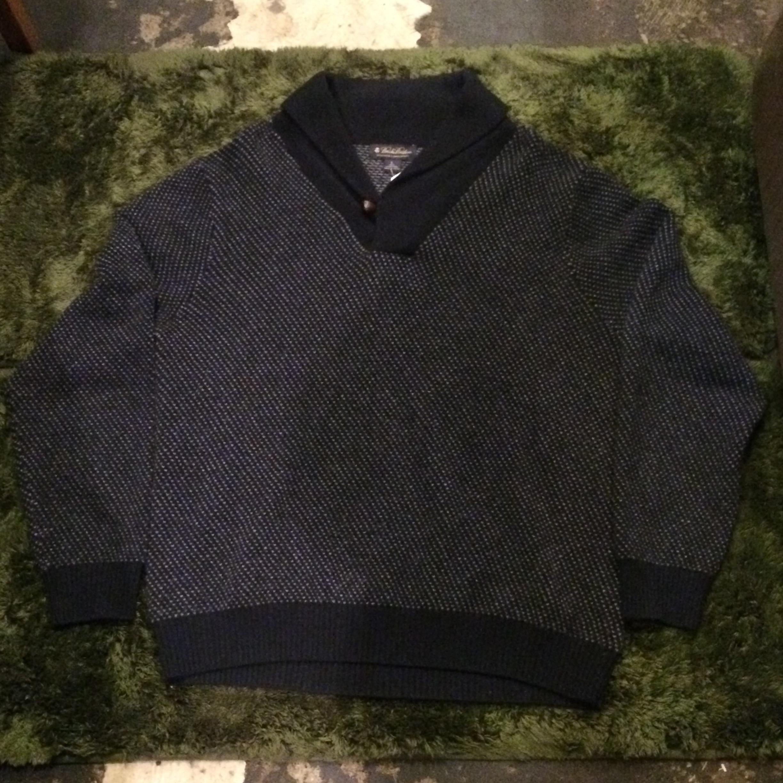 Brooks Brothers ショールカラーラムウールセーター