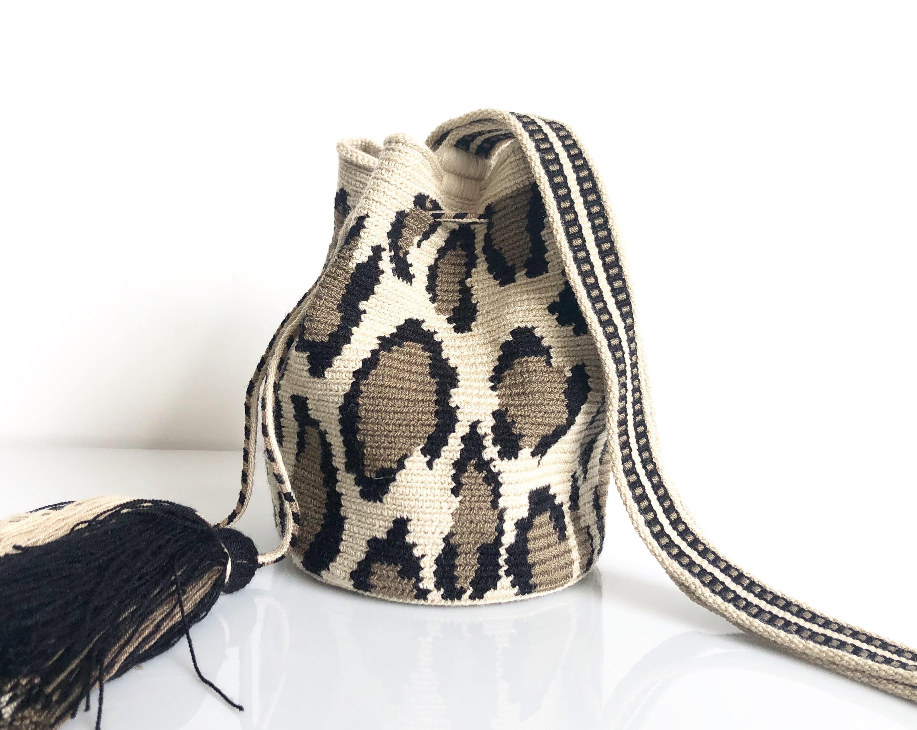 ワユーバッグ(Wayuu bag) Luxe line Sサイズ Leopard