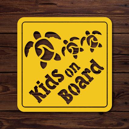 【受注生産】KIDS ON BOARD sign