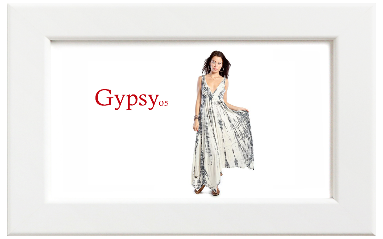 Gypsy05/ジプシー05 ALLIGATORマキシドレス/グレー【在庫限り】