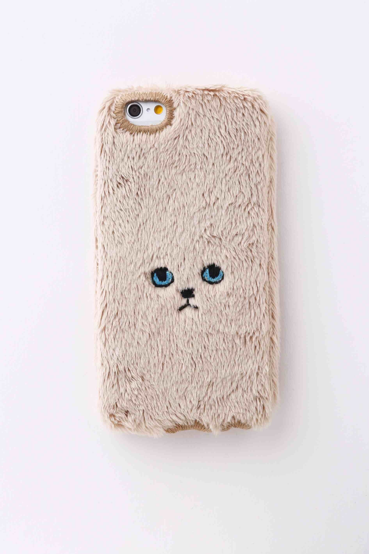 【iPhone6/6S専用】ネコiPhone6/6Sカバー 【ゴールド】