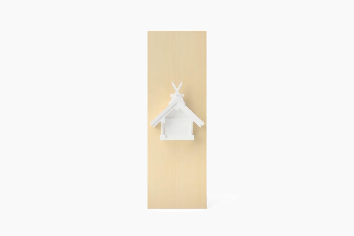 MIYA WALL SUMIYOSHI White (壁掛神棚 住吉造 マットホワイト)
