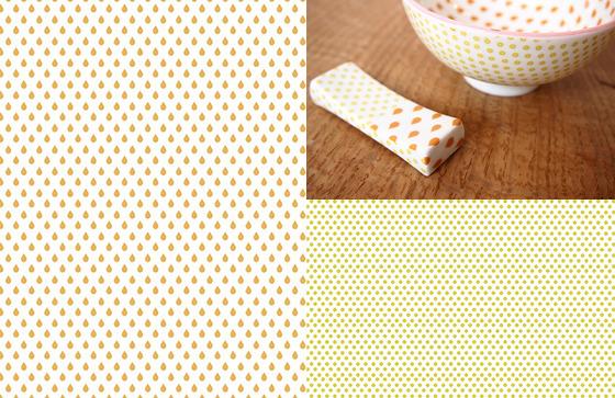 SIZUKU オレンジ&ライトグリーン A3(ポーセリンアート転写紙)
