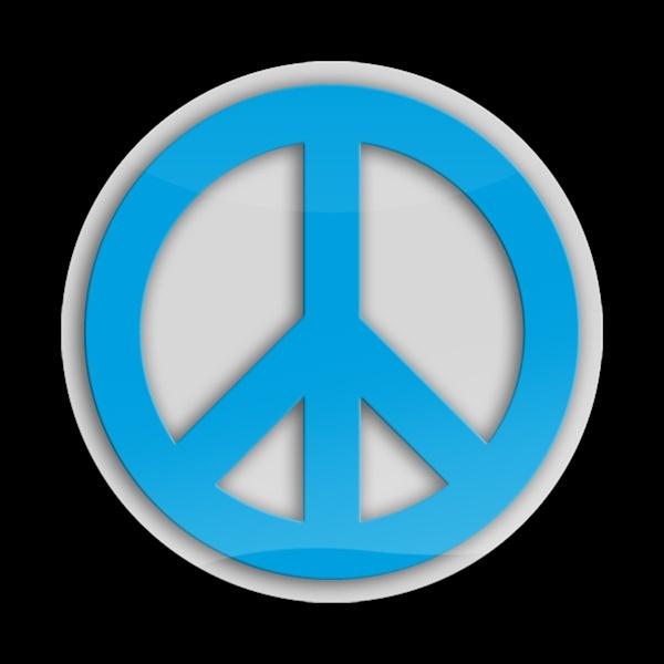 ゴーバッジ(3D)(LC0045 - 3D PEACE BLUE2) - 画像1