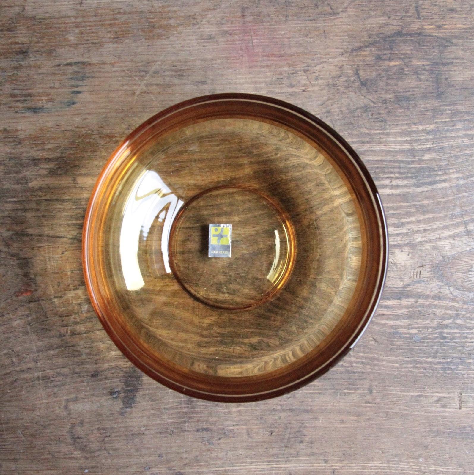 曽我ガラス アンバー色の小鉢 在庫5客