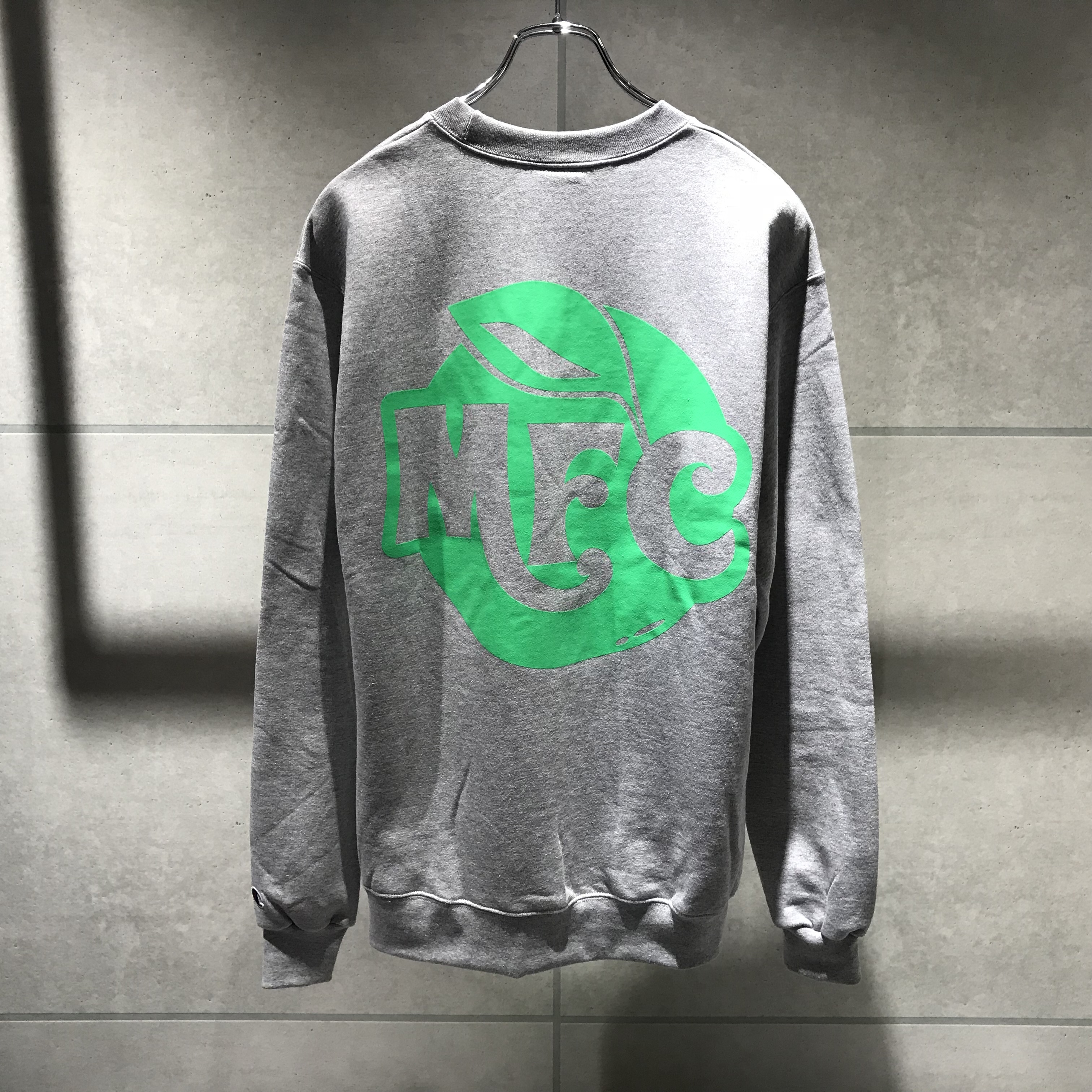 MFC STORE TYPE 8 CREWNECK SWEATSHIRT / LIGHT STEEL x LIME GREEN