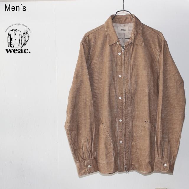 weac. コーデュロイジップシャツ ZIP SHIRTS2 (BEIGE) 【Men's】