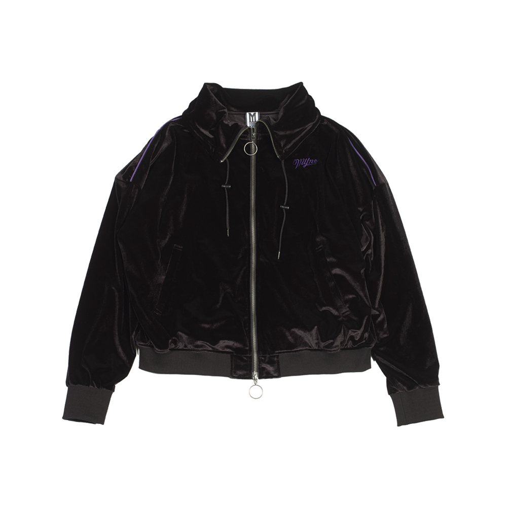 VELOUR BLOUSON / BLACK - 画像1