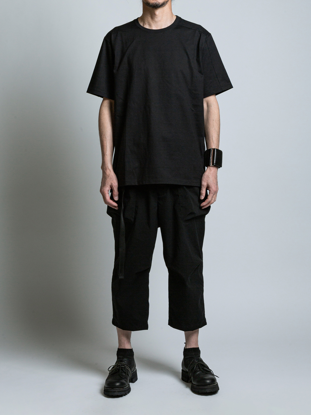 VI-SP-065-01 / 2枚パックTシャツ BLACK×2