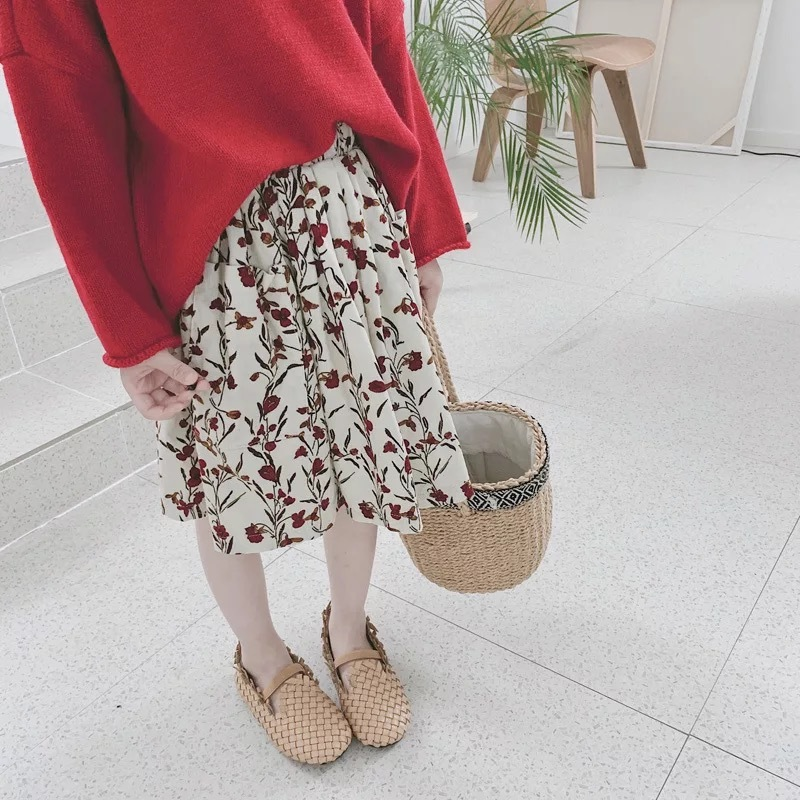 フラワーデザインスカート【801】