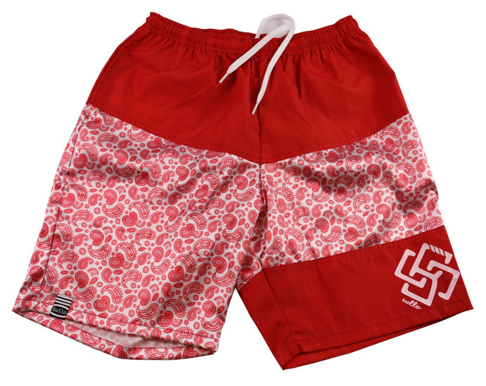 PAISLEY SHORTS(RED)