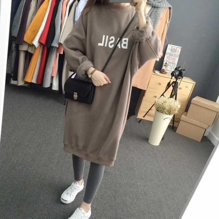 【人気爆発中】【dress】アルファベットルーズ膝丈カジュアルワンピース22593899