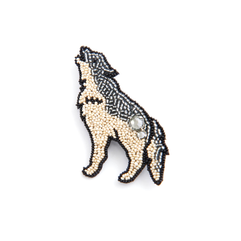 Môko Kobayashi/オオカミ ブローチ