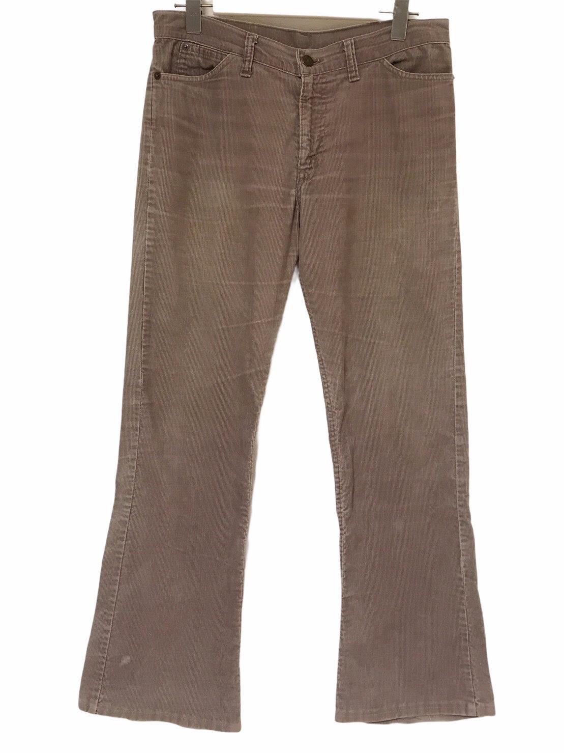 80's Levis 517 Corduroy pants Gray 42talon made in USA W31