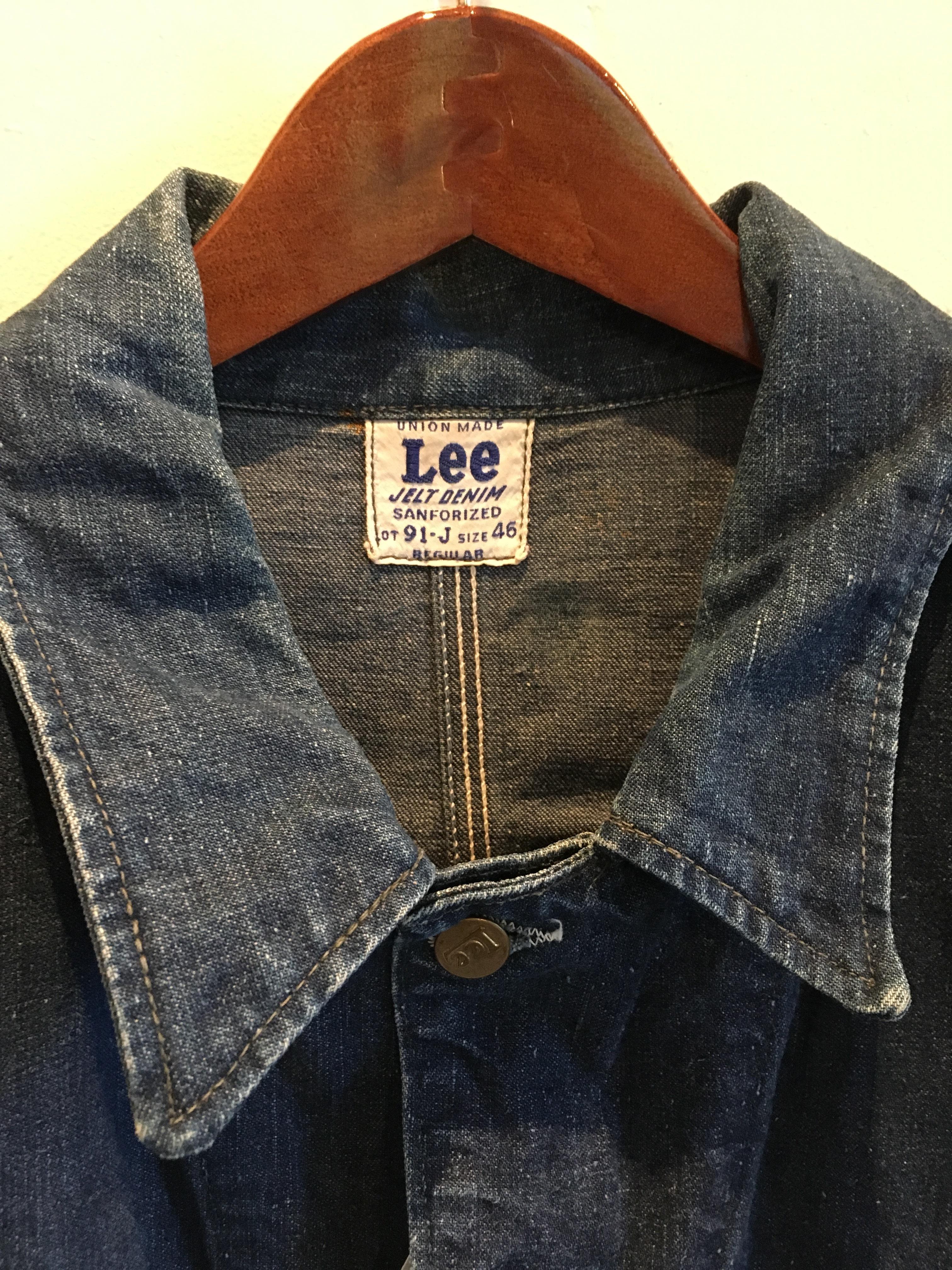 1940's Lee Long-L 三角タグ ヴィンテージカバーオールデニムJK