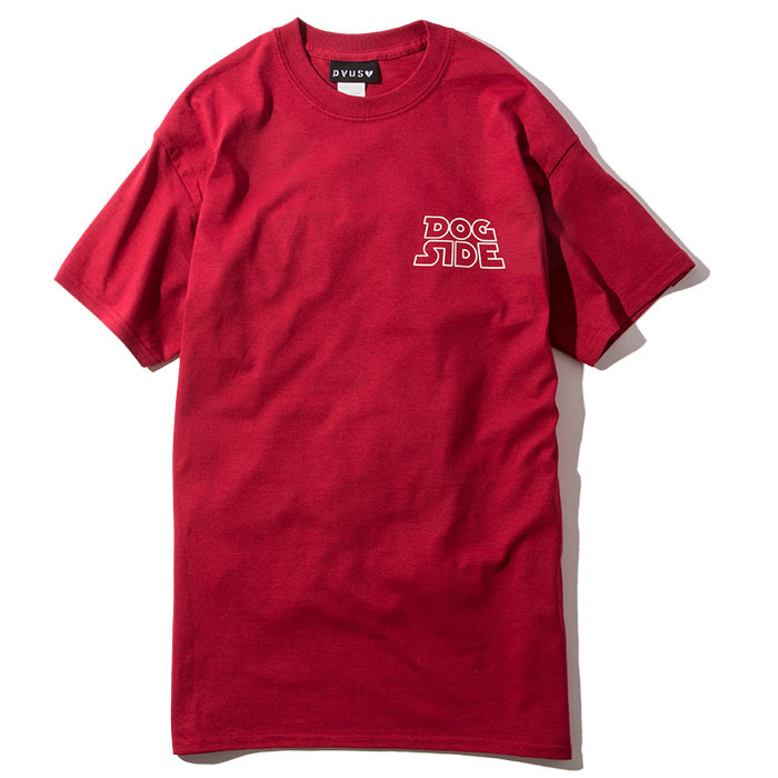 【Deviluse | デビルユース】DOG SIDE T-shirts(Cardinal Red)
