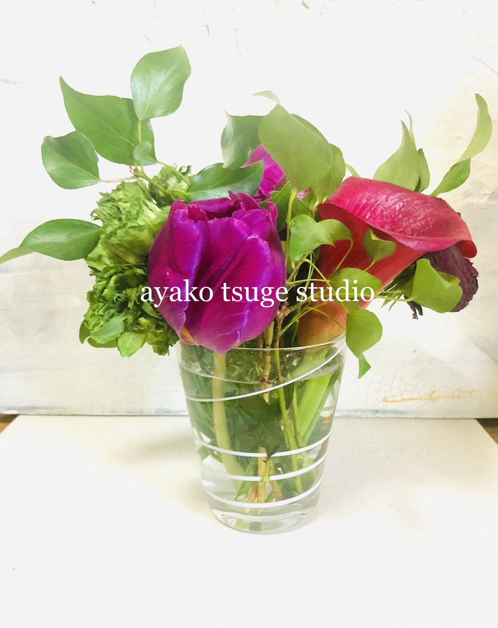 完売御礼 2019年前期 名古屋水彩ワークショップ 素敵なガラス花瓶と和バラを描く全6回