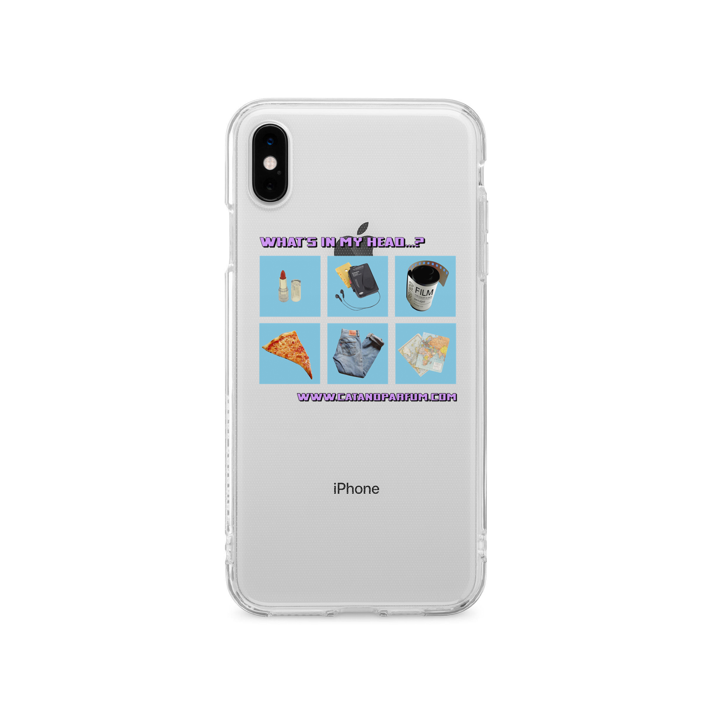 What's in my head...? Clear iPhone Case