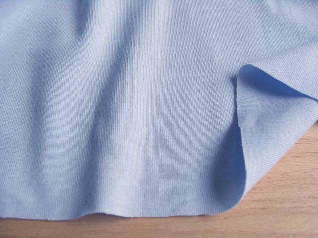 J&B定番 綿コーマ糸フライスニット スカイブルー #81 NTM-1092