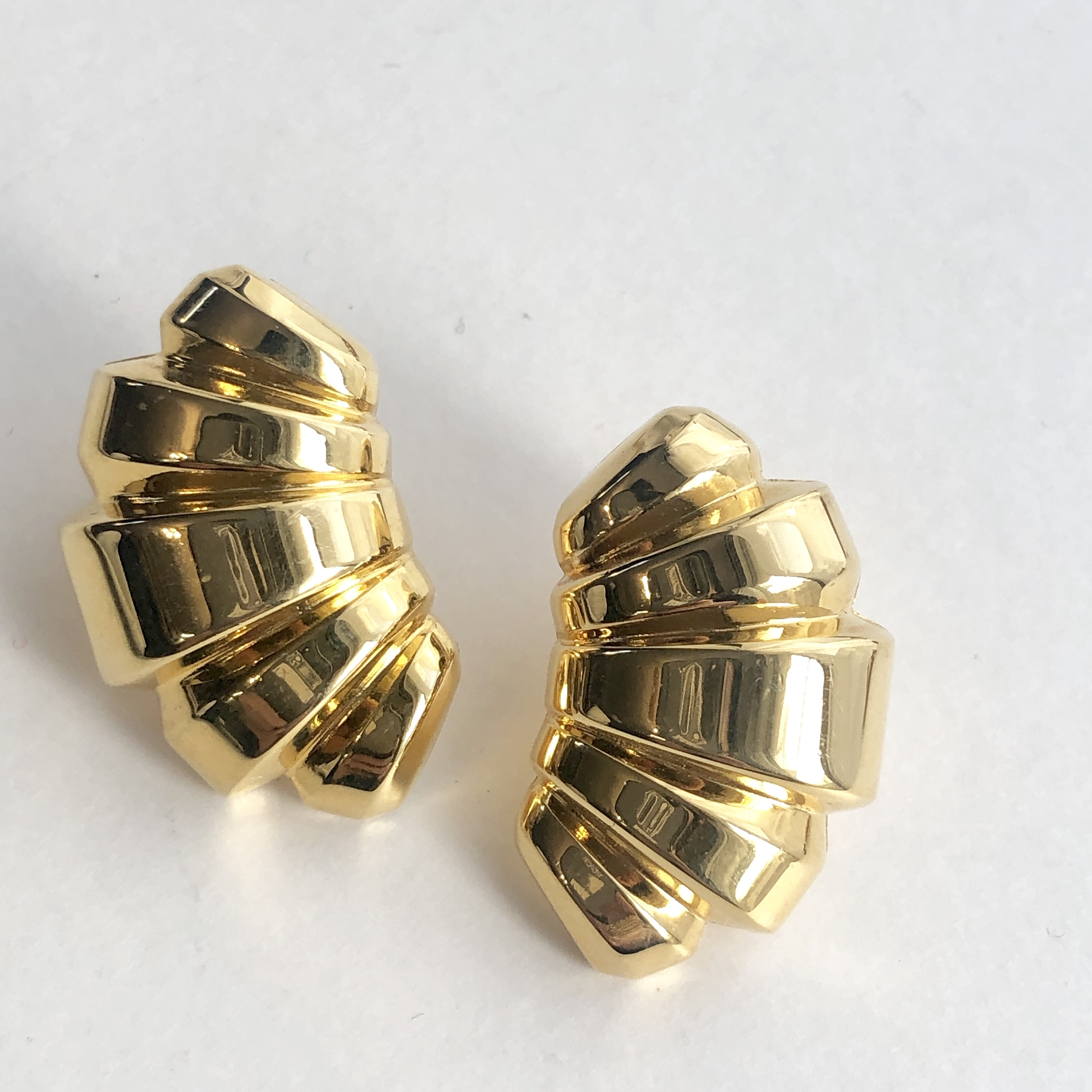Vintage Monet croissant earrings No.709*